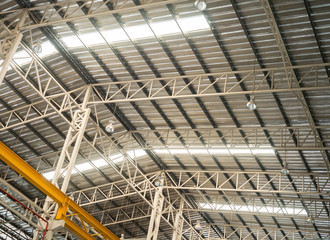 Factory truss structure with translucent roof