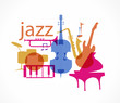 Colorful Jazz instruments set. isolated on white. illustration - 72205290