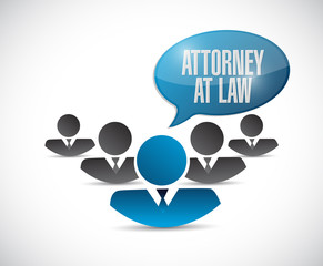 attorney at law message illustration