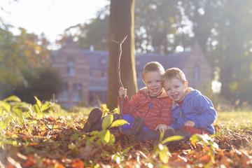 tweeling in de herfst