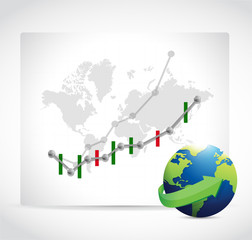 stocks business graphs. forex.