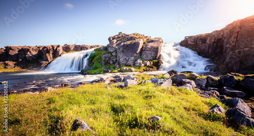 canvas print picture Scenic waterfall