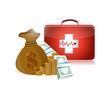 health care prices illustration design