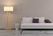 canvas print picture - Wohntrend - Sofa und Stehleuchte