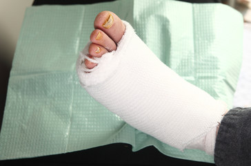 Man with foot infections