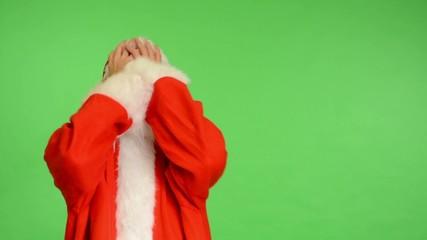 santa claus - green screen - studio - Santa Claus is angry