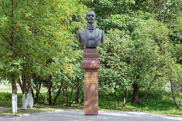 Monument of the Russian musician Vasily Andreyev in Bezhetsk