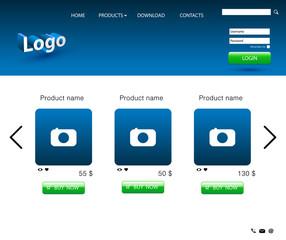 Website store design