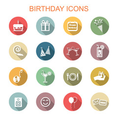 birthday long shadow icons