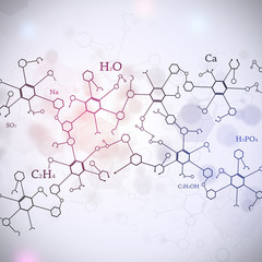 Abstract White Science Background