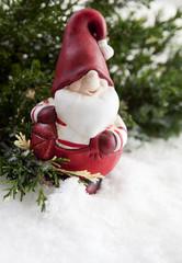 père Noël dans la neige