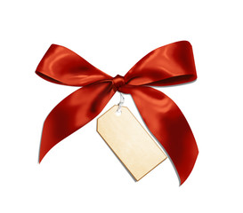 Red ribbon with card