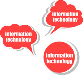 information technology. Set of stickers, labels, tags