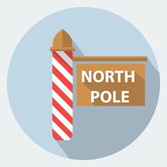 Vector north pole sign icon