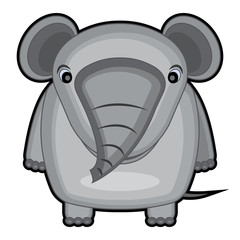 cartoon illustration of a baby elephant