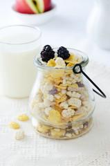 Cereal in a jug