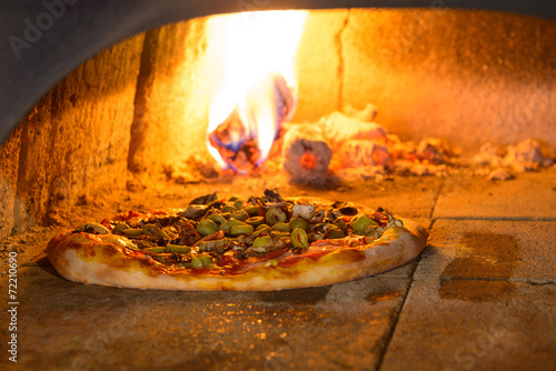 Aluminium Koken Fresh Italian pizza