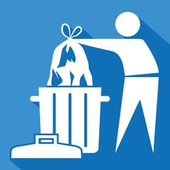 Logo ordures ménagères.