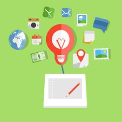 Modern web art technology concept