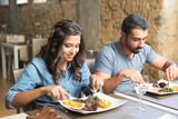 Fototapety Couple having lunch
