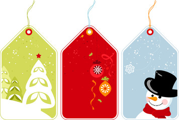 Retro Christmas Tags