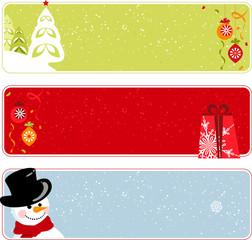 Retro Christmas Banners