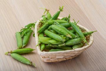 Green fresh peas