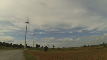 Wind turbines for generate, Eco power. HD