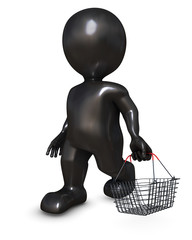 Morph Man with shopping basket