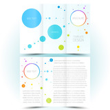 brochure design template trifold leaflet colored lines and circl poster