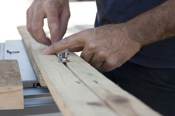 Carpintero Trabajando la madera