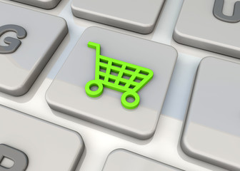Shopping On-line Concept - 3d
