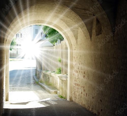 canvas print picture Licht am Ende des Tunnels
