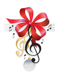 Treble Clef-Festive Music Background