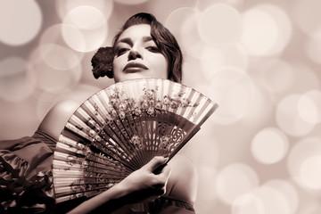 Gypsy Girl. Beauty Fashion Andalusian Woman. Flamenco Festival