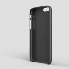 Black plastic case mock-up for smartphone. Inner view
