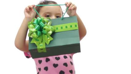Baby Girl Peeking Gift Bag