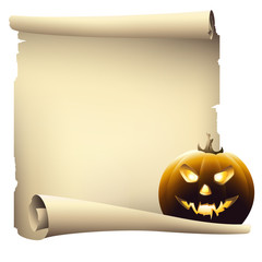 Halloween day banner, vector drawing