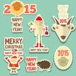 Zdjęcia na płótnie, fototapety, obrazy : Christmas stickers
