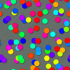 Circle shapes with seamless generated texture background