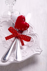 Romantic holiday table setting