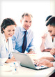 businessman with team on meeting in office