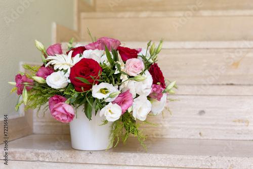 Fotobehang Gerbera Flower bouquet