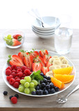 Breakfast with fruits and berries
