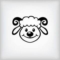 Cheerful lamb symbol 2015 year