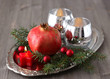 Christmas decoration with pomegranate