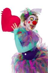 Bunter Clown mit Herz
