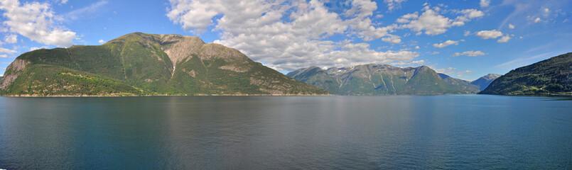 panorama Landschaft hardangerfjord, Norwegen