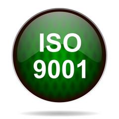 iso 9001 green internet icon