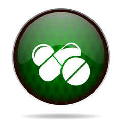 medicine green internet icon
